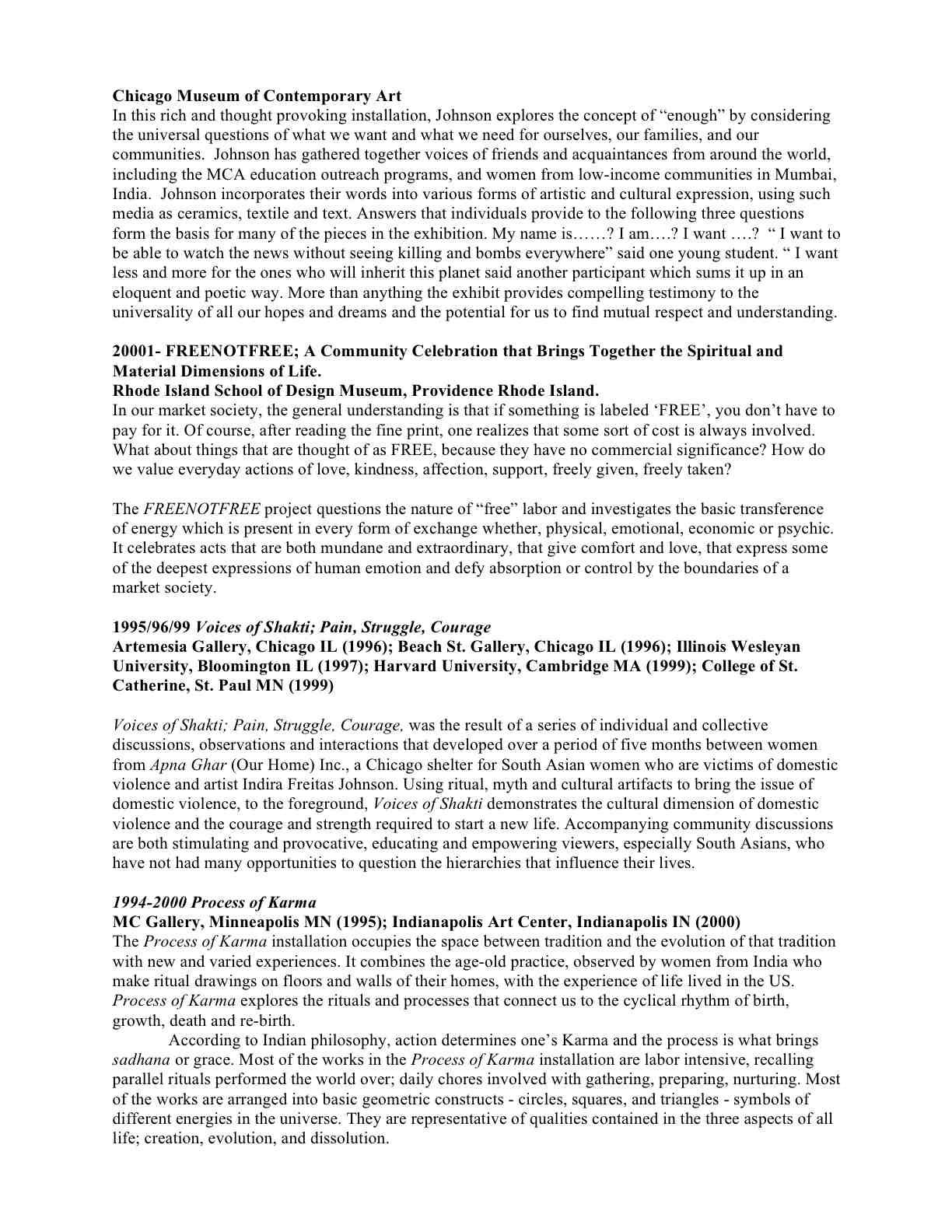 Indira Johnson's Resume 2010